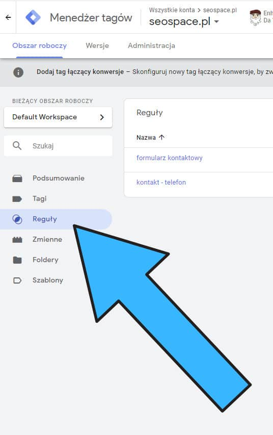 Reguły Google Tag Manager