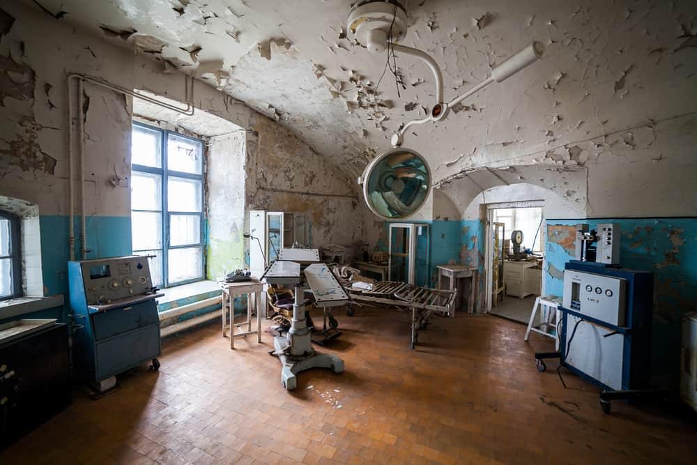 Opuszczony szpital Patarei Tallin Estonia
